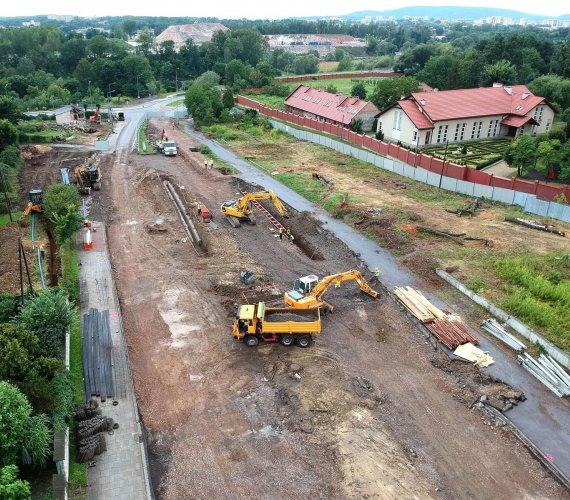 Trwa budowa Trasy Łagiewnickiej w Krakowie