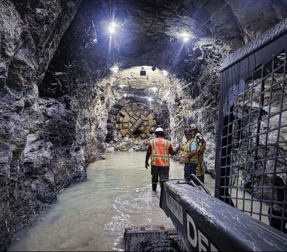 Tunelowanie w amerykańskim kamieniołomie
