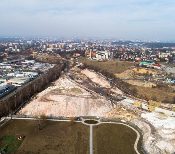 Tak wygląda plac budowy Trasy Łagiewnickiej w Krakowie [zdjęcia]
