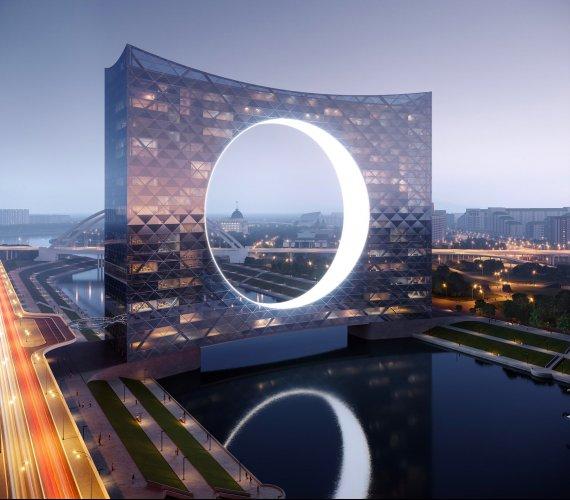 Kazachstan: wieżowiec-most w stolicy