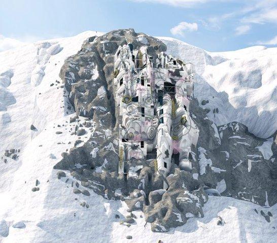 Ośrodek treningowy dla astronautów na szczycie Mont Blanc