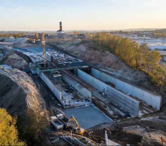 Budowa Trasy Łagiewnickiej w Krakowie