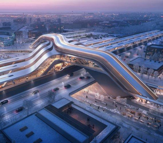 Rail Baltica: futurystyczny terminal multimodalny w Estonii