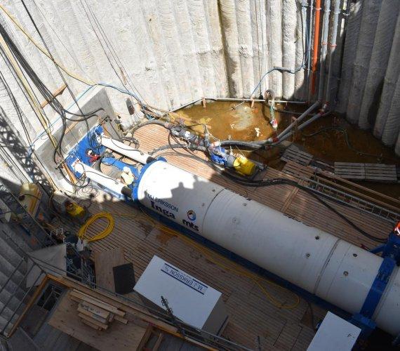 Mikrotunel w Kopenhadze: maszyna pracuje pod portem Nordhavn