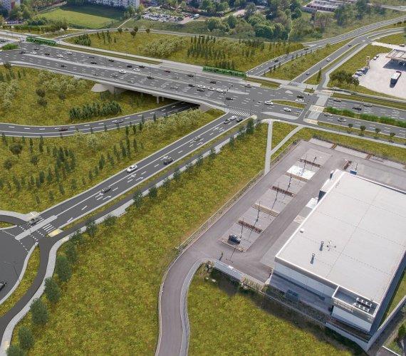 Poznań: budowa linii tramwajowej z wiaduktami [wizualizacje]
