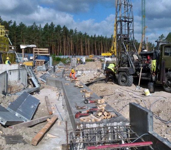 Tunel w Świnoujściu: budowa komory startowej dla maszyny TBM
