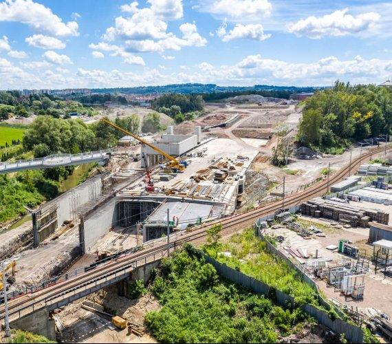 Trasa Łagiewnicka: budowa tunelu tramwajowo-drogowego
