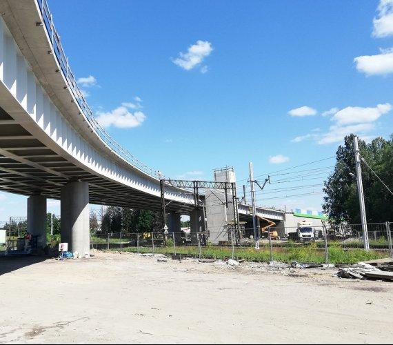 Budowa wiaduktu w Sokółce nad linią do granicy z Białorusią