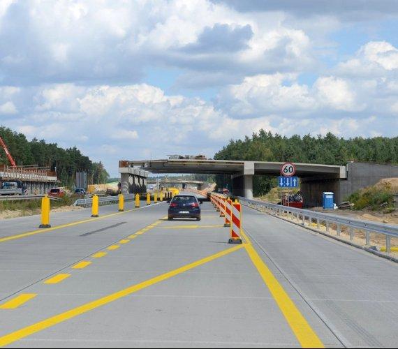 Auta wjechały na nowy odcinek autostrady A1