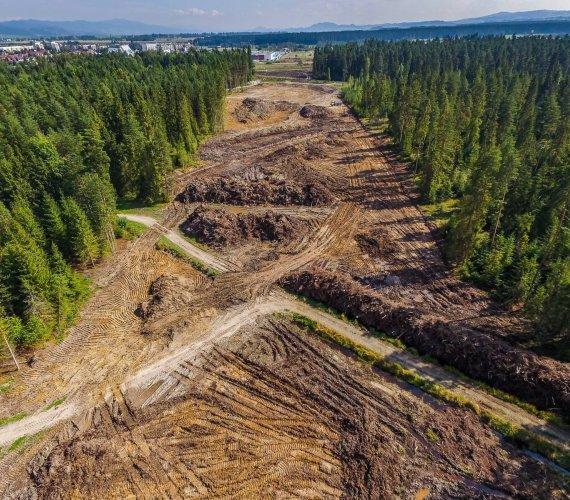 Trwa budowa drogi Rdzawka–Nowy Targ