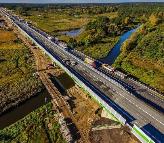Autostrada A1: budowa mostu przez Wartę