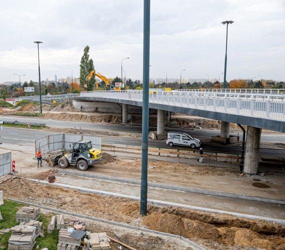 Remont wiaduktu na Trasie Łazienkowskiej w Warszawie