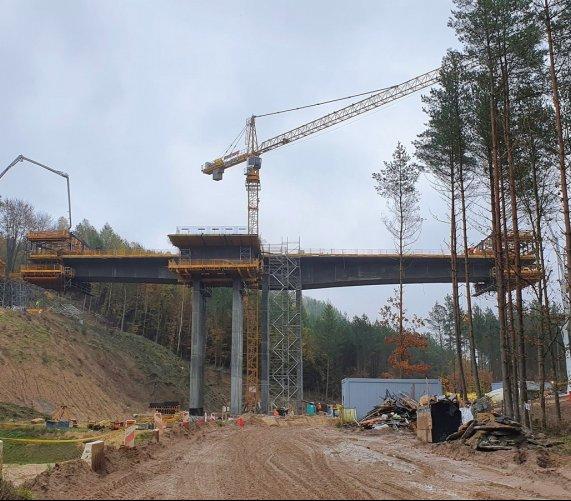 Budowa estakady na Trasie Kaszubskiej