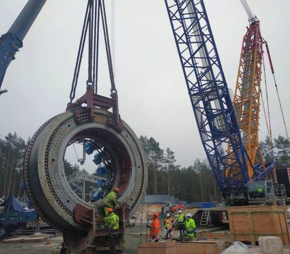 Tunel w Świnoujściu: montaż maszyny TBM