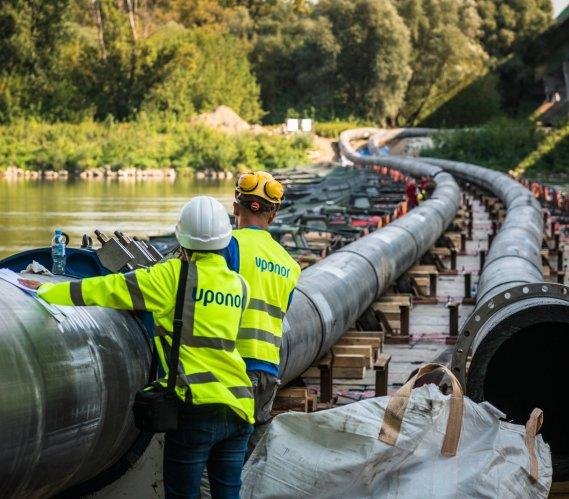Budowa awaryjnego rurociągu do oczyszczalni Czajka