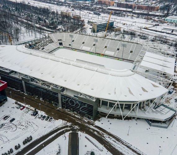 Rozbudowa stadionu w Łodzi z lotu ptaka
