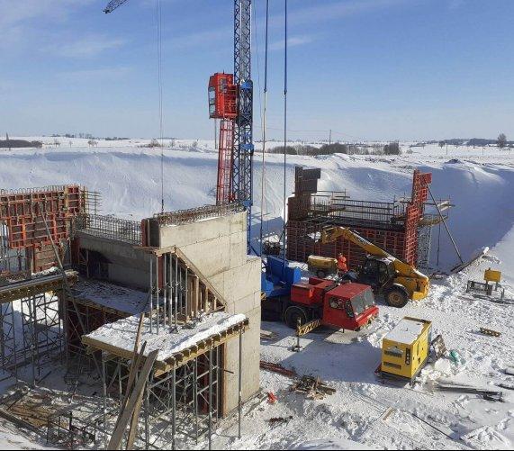Pracowita zimowa przerwa na budowie obwodnicy