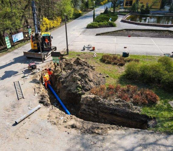 Poznań: budowa sieci wod-kan na terenie  zoo