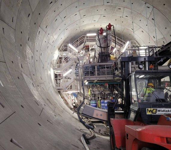 Łódź: trwa drążenie najdłuższego obiektu tunelu średnicowego