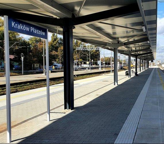 Nowe perony na stacji Kraków Płaszów