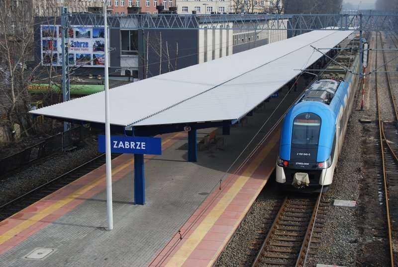 Zmodernizowana linia kolejowa Katowice-Gliwice