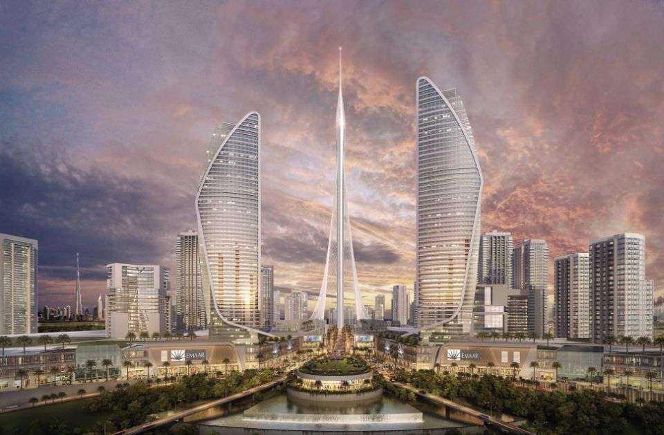 Monumentalna wieża obserwacyjna w Dubaju