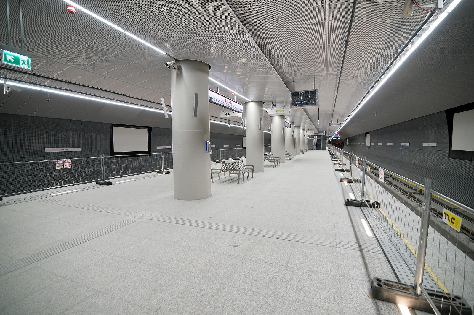 Gotowa stacja Trocka czeka na pierwszych pasażerów
