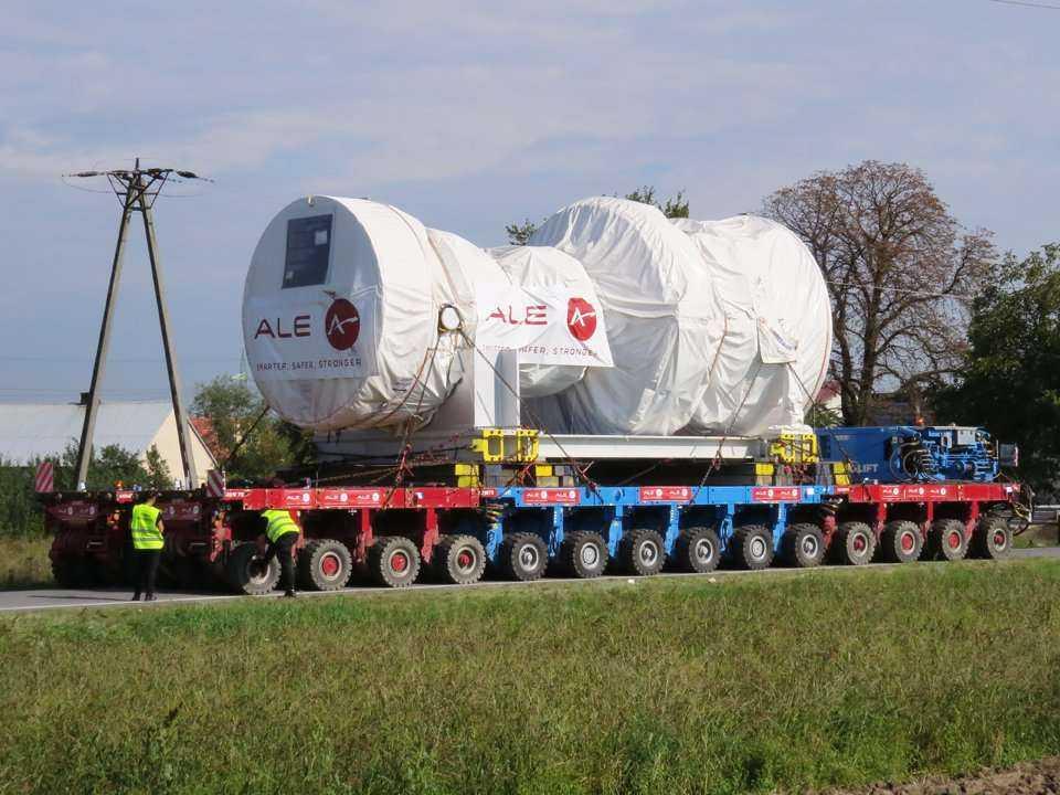 Transport turbiny gazowej do Elektrociepłowni Stalowa Wola