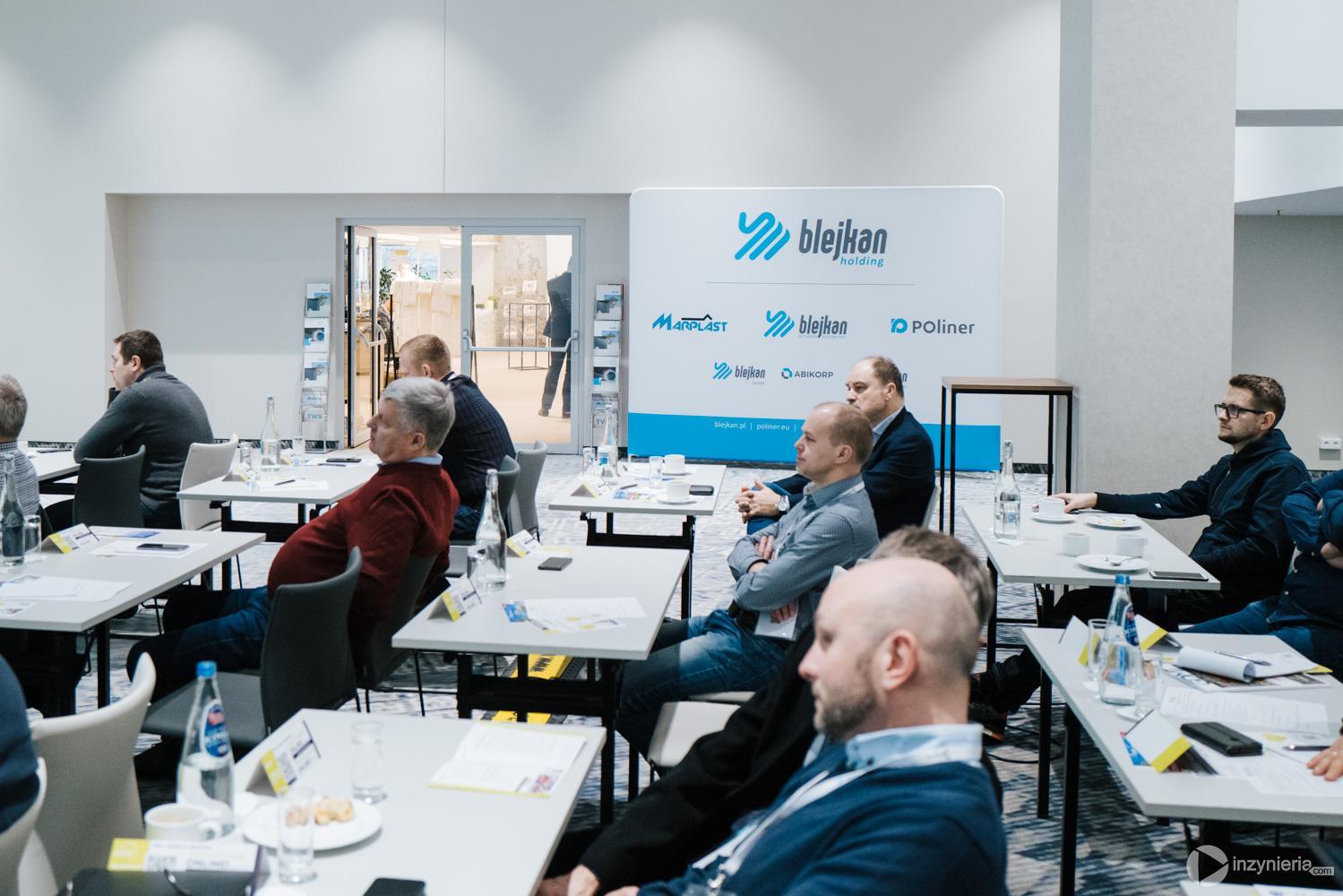 """Stoisko firmy BLEJKAN S.A. IV Konferencja """"Renowacja Wykładzinami (Rękawami) Utwardzanymi na Miejscu"""". Fot. Quality Studio dla www.inzynieria.com"""