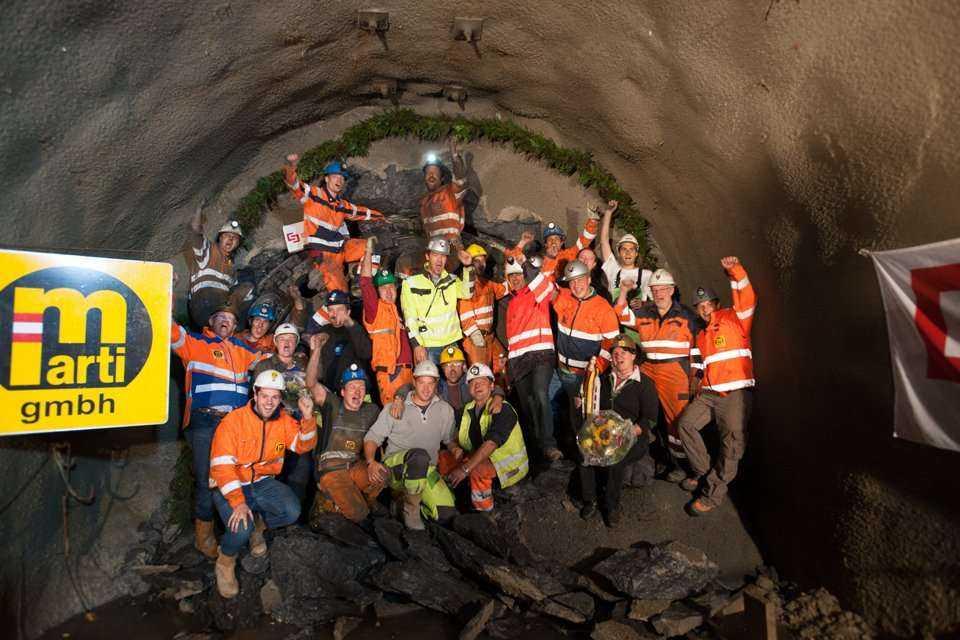 Budowa tunelu dla elektrowni wodnej w Austrii
