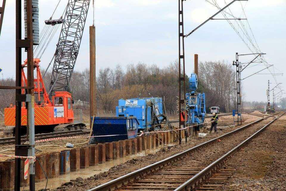 Ściana szczelna na potrzeby budowy S2 w Warszawie