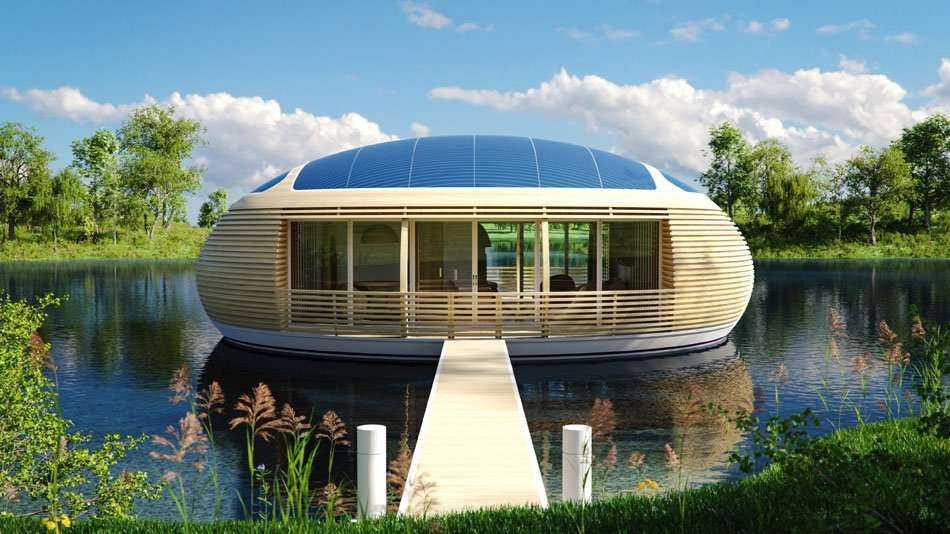 Projekt samowystarczalnego domu na wodzie