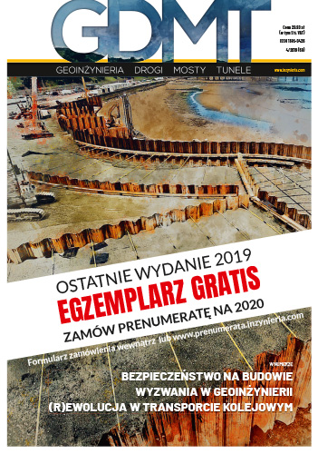 Czasopismo GDMT geoinżynieria drogi mosty tunele 4/2019 [69]