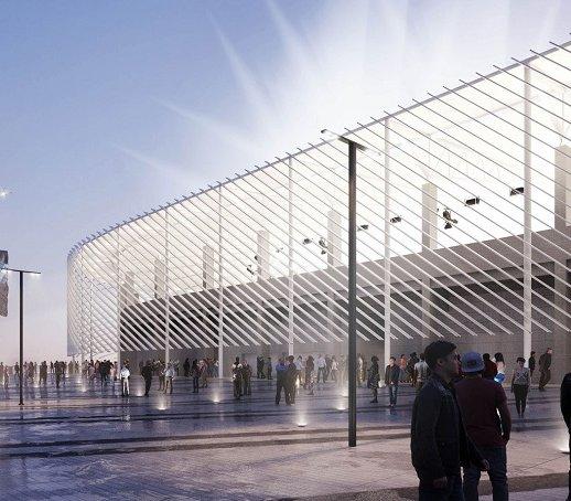 Trwa budowa stadionu miejskiego w Płocku