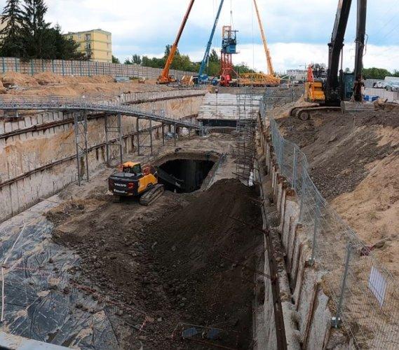 Tunel średnicowy w Łodzi: budowa komory startowej