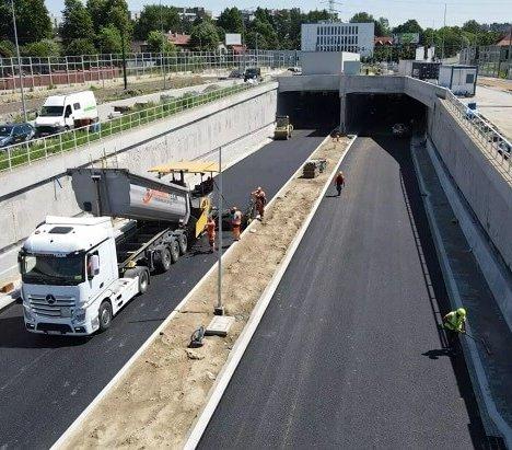 Rowerzyści przejadą nad tunelem Trasy Łagiewnickiej