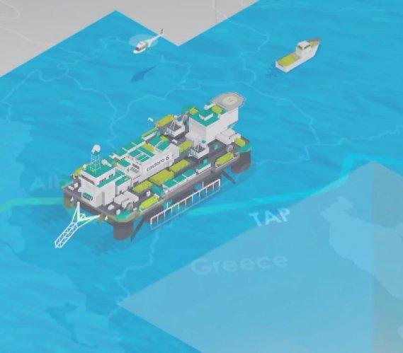 Budowa podwodnego odcinka gazociągu TAP