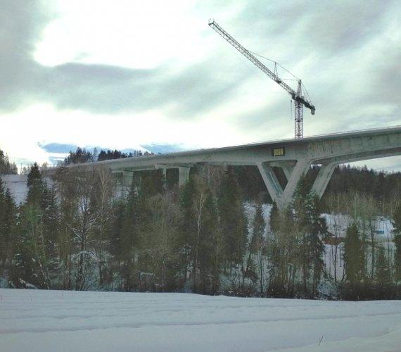 Tak wygląda najdłuższy wiadukt na nowym odcinku Zakopianki