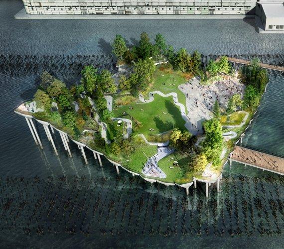 Betonowa wyspa w Nowym Jorku: będzie jednak zielono