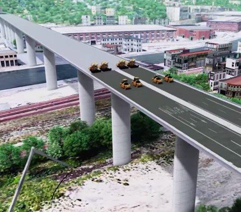 Genua: budowa kilometrowego wiaduktu trwa całą dobę