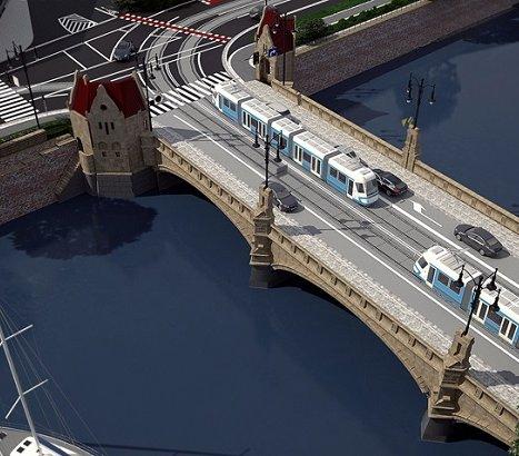 Wrocław: przebudowa mostów Pomorskich z lotu ptaka