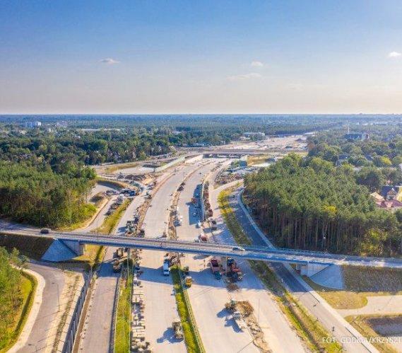 Ponad 90% zaawansowania na budowie odcinka C Południowej Obwodnicy Warszawy