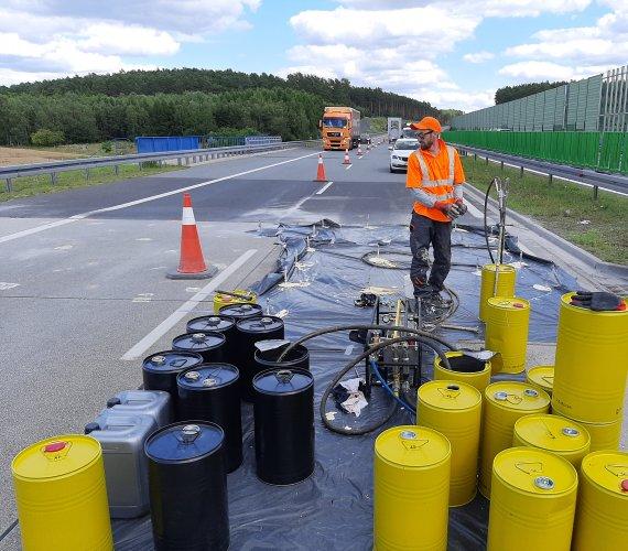 Stabilizacja i wzmocnienie podłoża gruntowego konstrukcji nawierzchni autostrady A2