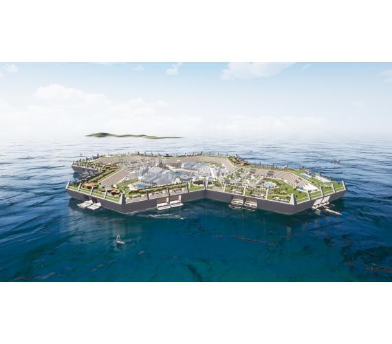 Budowa sztucznej wyspy na Atlantyku