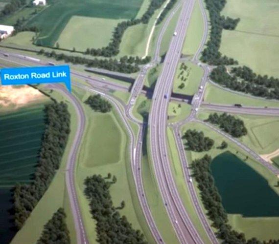Budowa trzypoziomowego skrzyżowania w Anglii