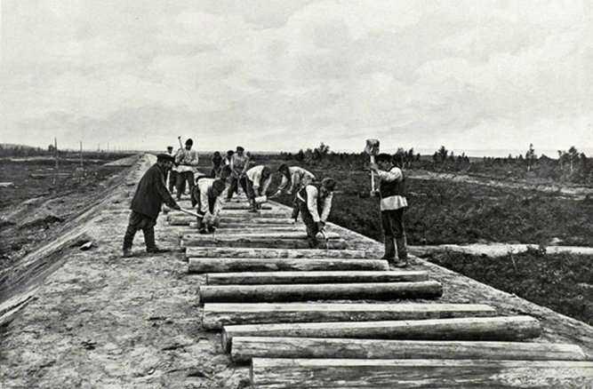 Znalezione obrazy dla zapytania budowa kolei transsyberyjskiej